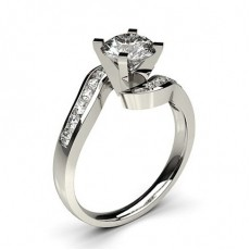 Platinum Side Stone Engagement Rings