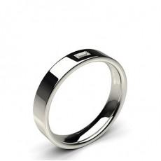4.00mm Studded Flat Profile Comfort Fit Diamond Wedding Band