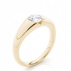 9K Yellow Gold Engagement Rings