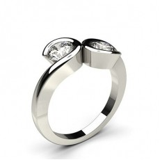Platinum Two Stone Diamond Rings