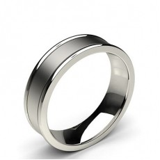 Platinum Plain Men's Wedding Bands