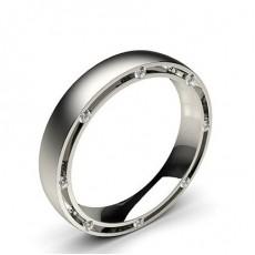 Platinum Contemporary Men's Wedding Bands Bands