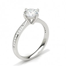 Round Side Stone Diamond Rings