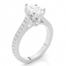 Pear Side Stone Diamond Rings