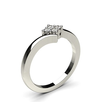 Prong Setting Round Diamond Cluster Ring