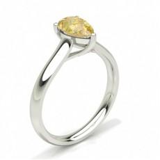 Pear Yellow Diamond Engagement Rings