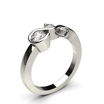Channel & Prong Setting Round Diamond Fashion Ring