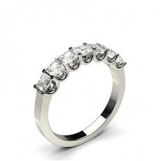 7 Stone Princess Cut Diamond Rings