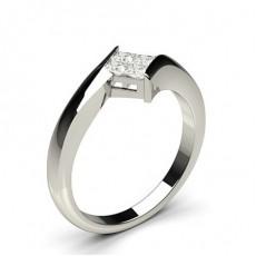 Princess Cluster Diamond Rings