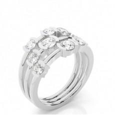 Semi Bezel Setting Round Diamond Fashion Ring