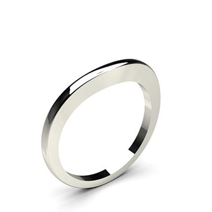 Slight Comfort Fit Plain Curve Shaped Wedding Band