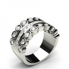 Princess Half Eternity Diamond Rings