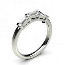 Baguette 3 Stone Diamond Rings