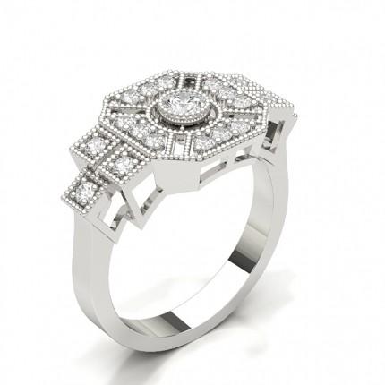 Round Diamond Cluster Ring