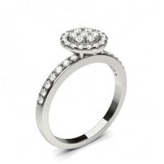 Platinum Cluster Diamond Rings