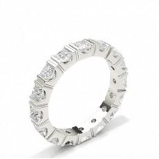 Princess Full Eternity Diamond Rings