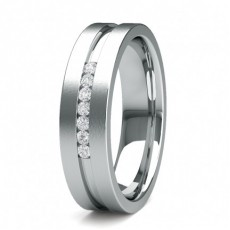 Round Contemporary Men's Wedding Bands Bands
