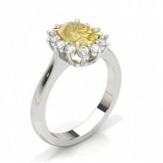 Platinum Yellow Diamond Engagement Rings