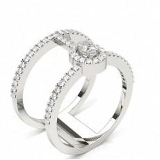 Oval Statement Diamond Rings