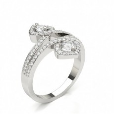 Round Diamond Full Setting Fashion Ring