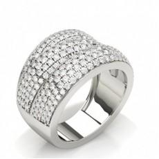 Round Diamond Prong Setting Fashion Ring