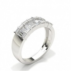 Baguette Half Eternity Diamond Rings