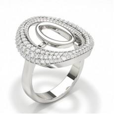 Round Diamond Design Fashion Ring