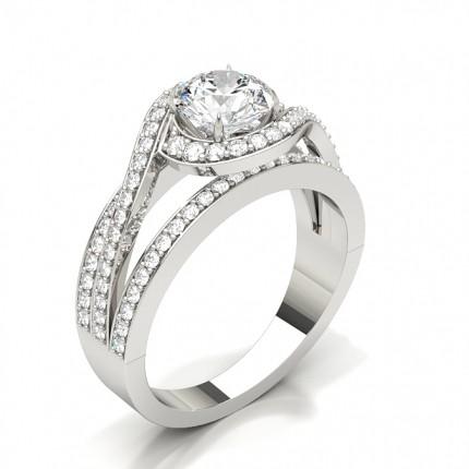 Single Round Diamond Engagement Ring