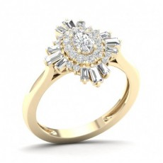 Prong Oval  Diamond Halo Ring