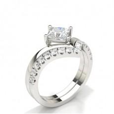 Princess Bridal Set Engagement Rings