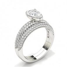 Pear Bridal Set Engagement Rings