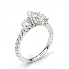 Marquise 3 Stone Diamond Rings