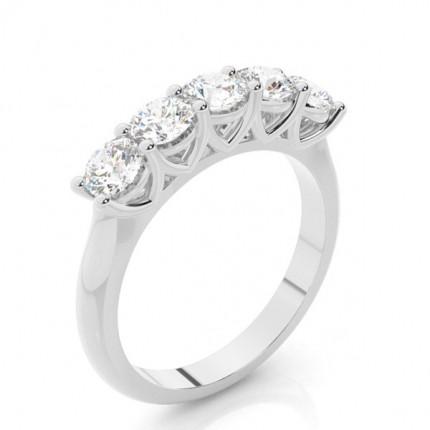 Prong Setting Plain Five Stone Ring